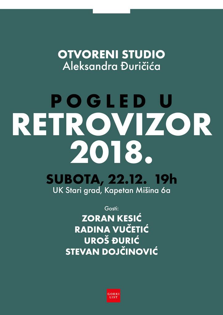 Otvoreni studio Aleksandra Đuričića – Pogled u retrovizor 2018.