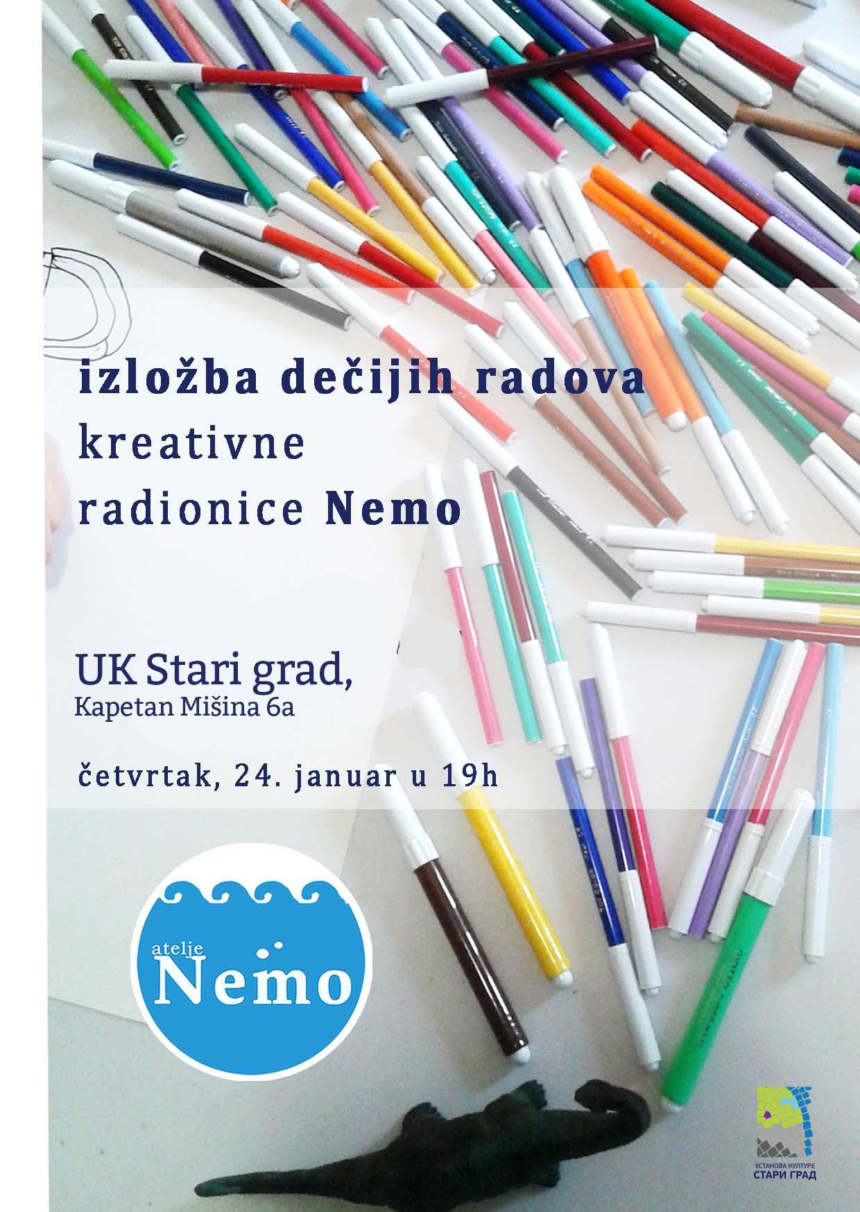 Izložba dečijih radova kreativne radionice Nemo