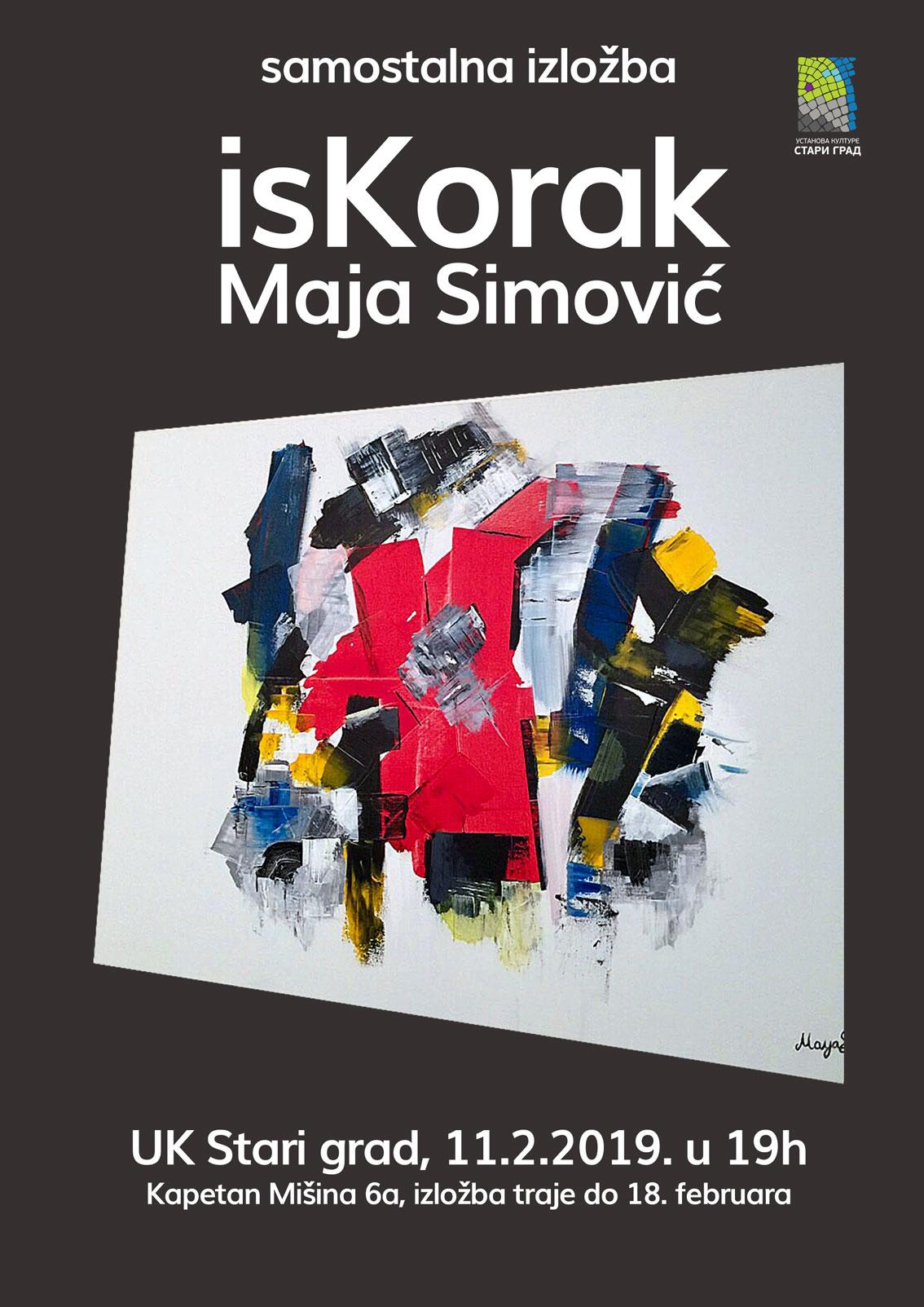 """Samostalna izložba """"isKorak"""", Maja Simović"""