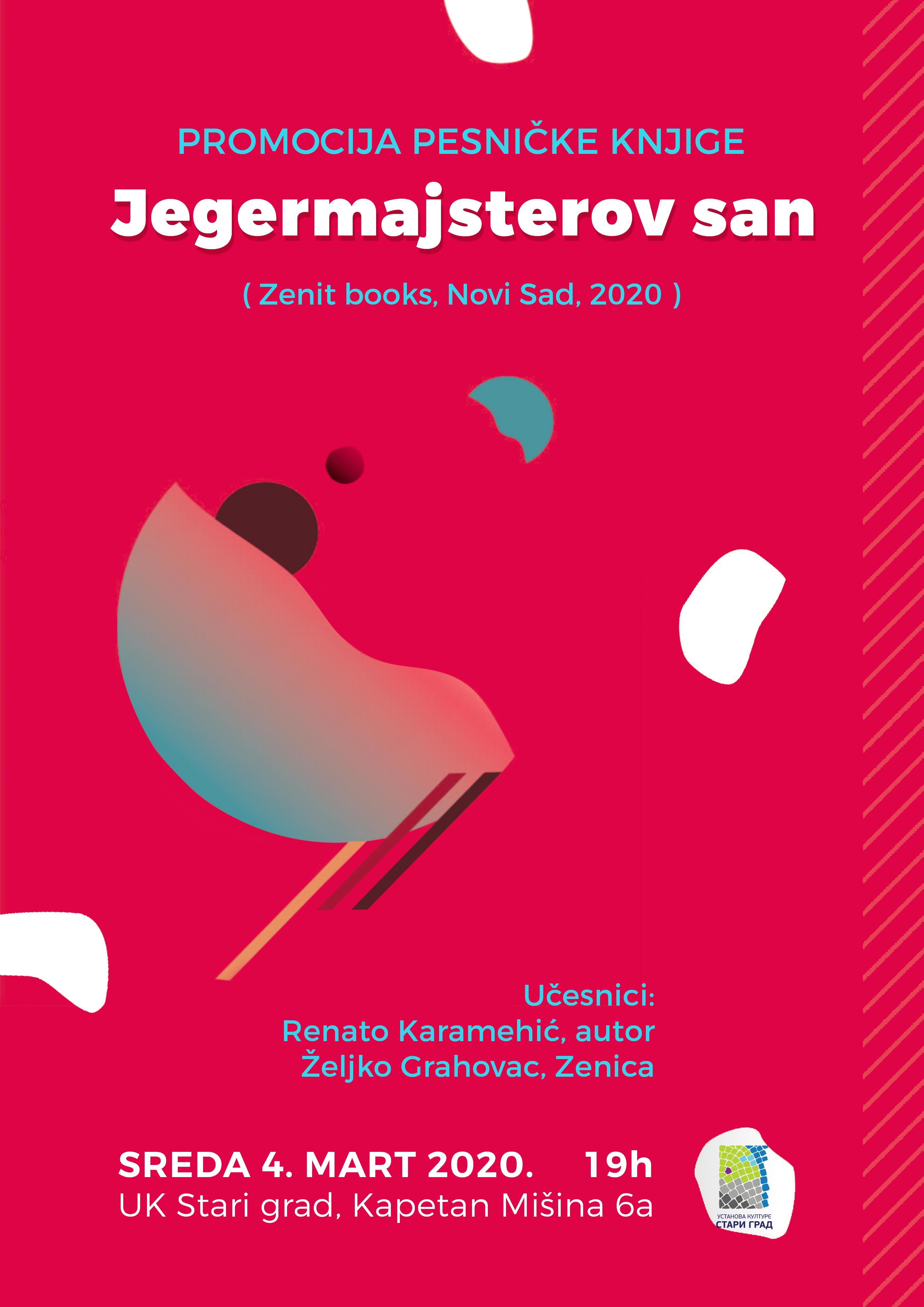 """Promocija pesničke knjige """"Jegermajsterov san"""" Renata Karamehića"""