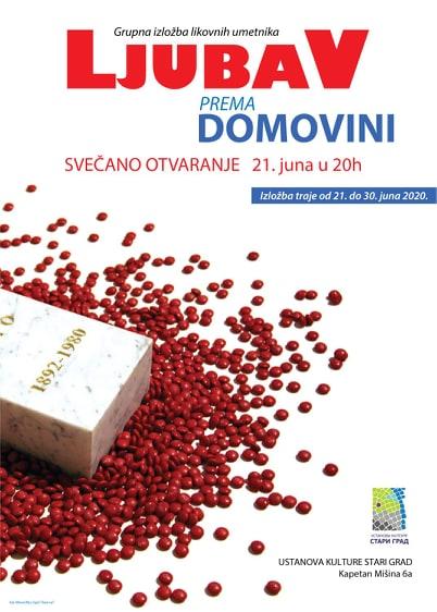 "Grupna izložba likovnih umetnika ""Ljubav prema domovini"""