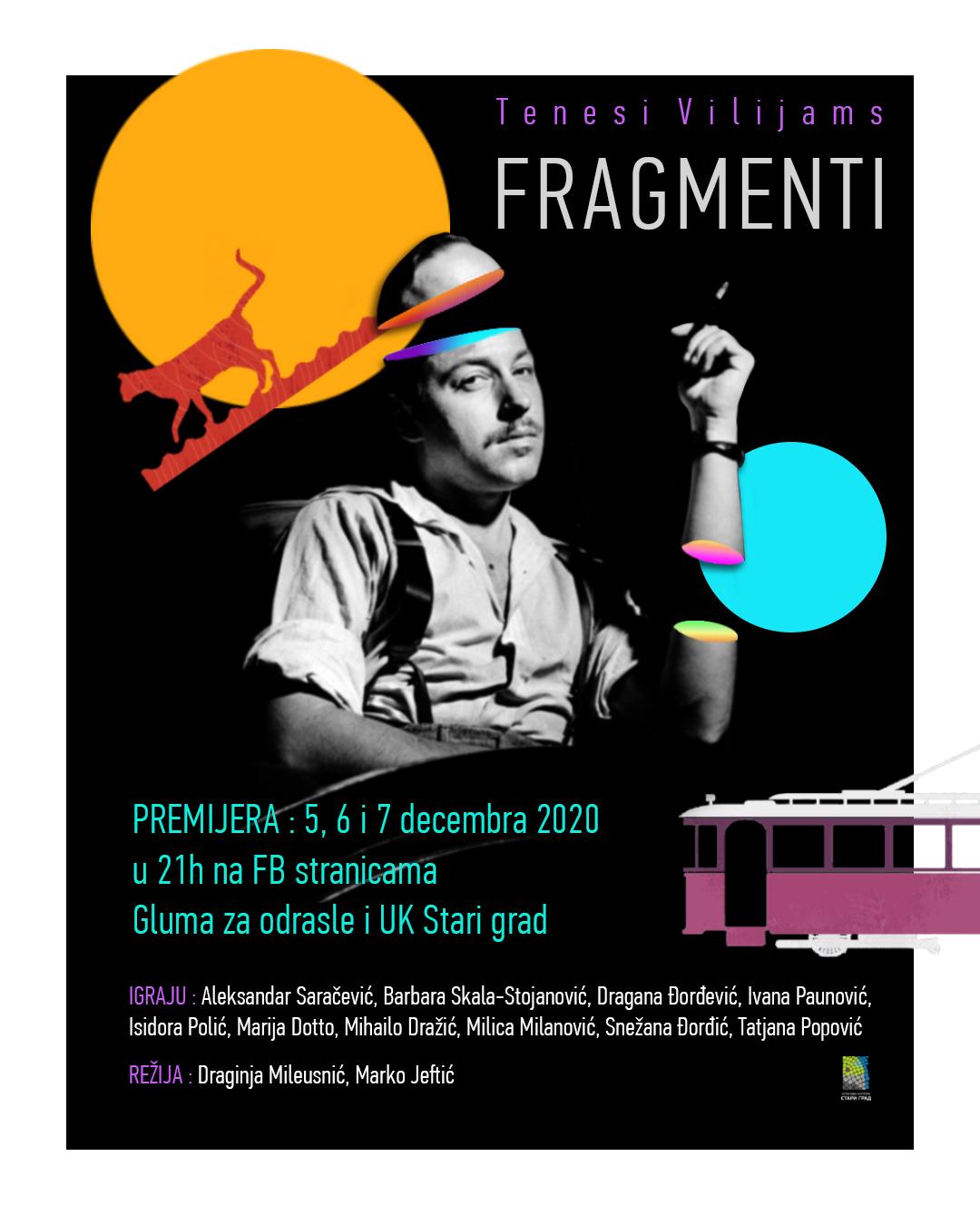 """Predstava """"Fragmenti"""" Tenesi Vilijams"""