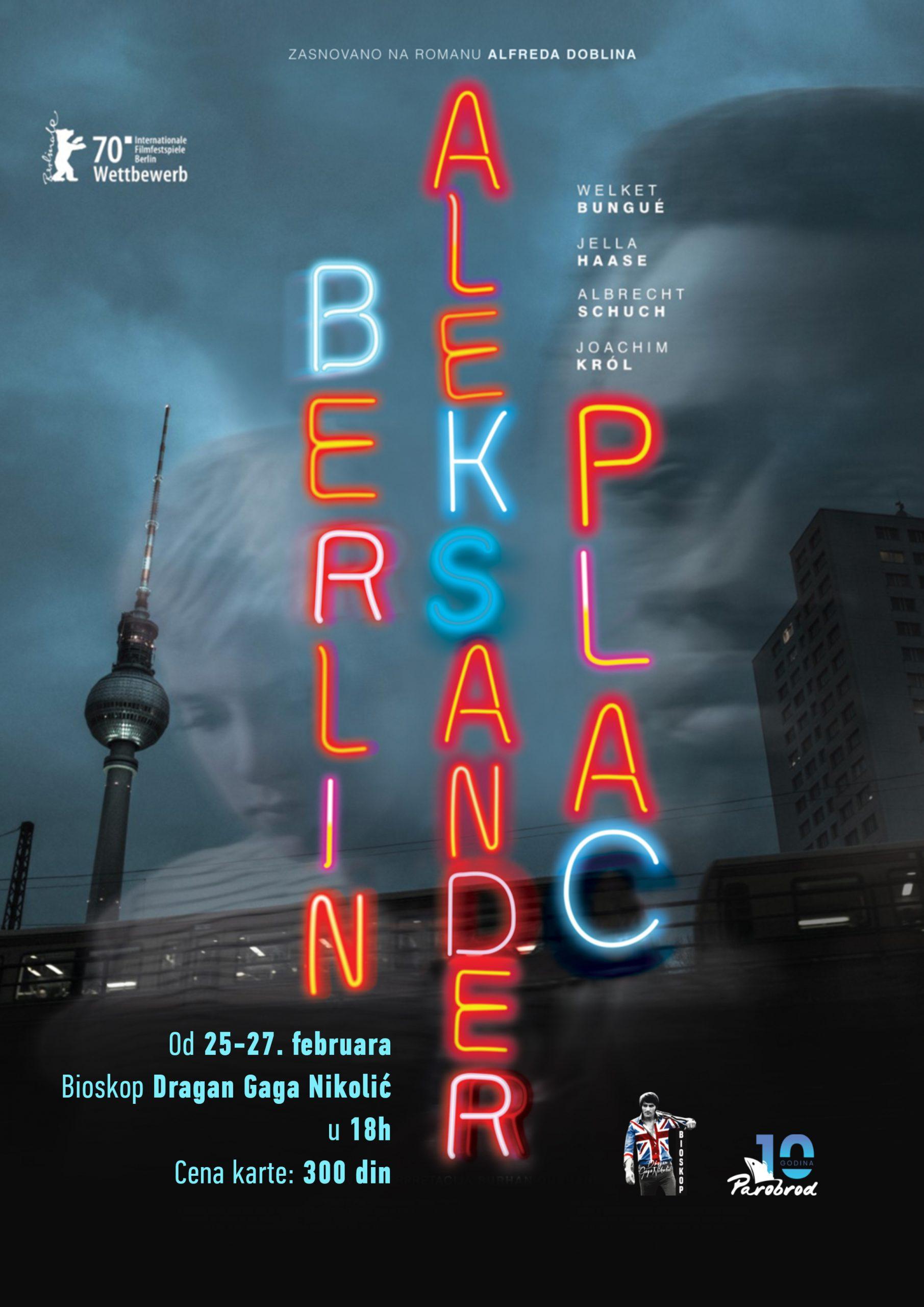 """Projekcija filma """"Berlin Alexanderplatz"""""""