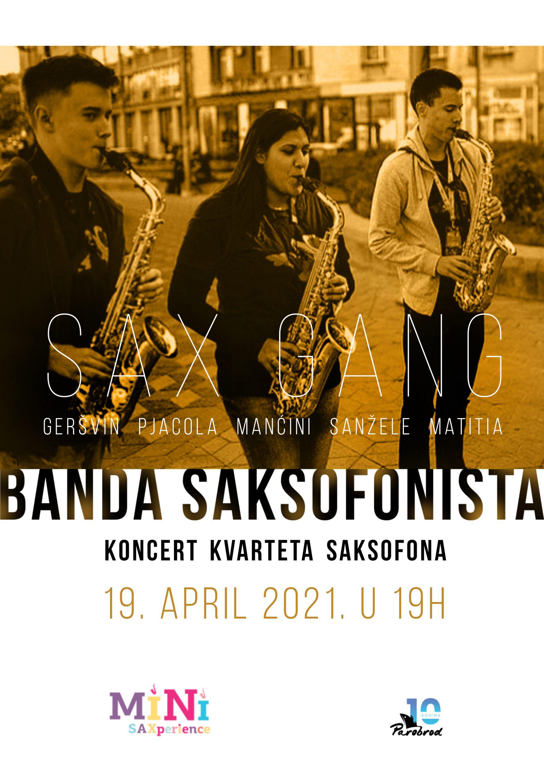 "Koncert kvarteta sasksofona ""Banda saksofonista"""